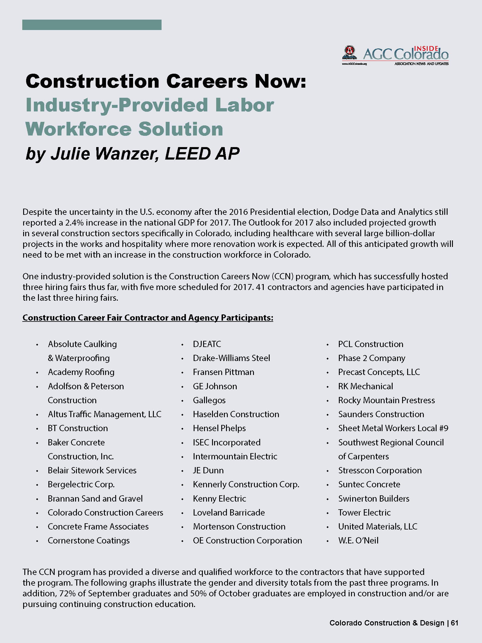 CCD Magazine Winter 2017_Industry-Provided Labor Workforce ...