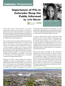 CCD Magazine Winter Spring 2017_Importance of P3 in CO_Business Rewritten