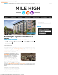 Mile High CRE_'Monetizing the Experience' Hotel Trend in Denver_Business Rewritten