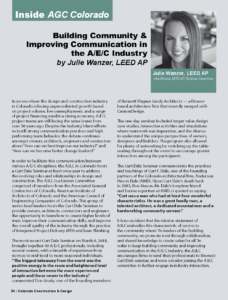 Building Community & Improving Communication in the A/E/C Industry_Business Rewritten