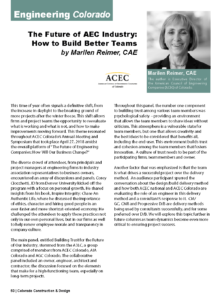 CCD Magazine_Future of AEC Industry How to Build Better Teams_Spring 2018_Business Rewritten