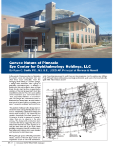 Convex Nature_Pinnacle Eye Center Medical Office Building_CCD Magazine Spring 2016_Editor and Copyrighter