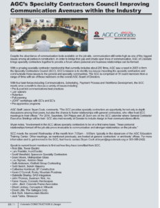 CCD Spring Summer 2016_AGC's Specialty Contractors Council_Business Rewritten