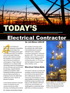 CCD Magazine Winter Spring 2017_Todays Electrical Contractor_Business Rewritten