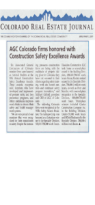 CREJ_AGC Colorado Firms Honored with Construction Safety Excellence Awards_Business Rewritten