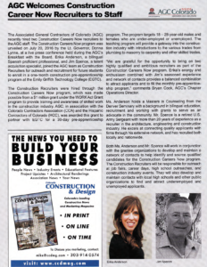 CCD Magazine Summer Fall 2016_AGC Welcomes CCN Recruiters_Business Rewritten