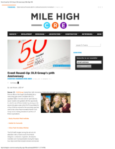 Mile High CRE_Event Round-Up DLR Group's 50th Anniversary_Business Rewritten