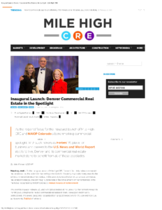 Mile High CRE_Inaugural Launch Denver Commercial Real Estate in the Spotlight_Business Rewritten