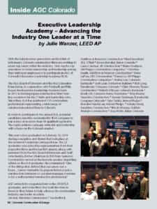 Executive Leadership Academy_CCD Magazine_Spring 2018_Business Rewritten