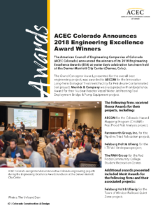 CCD Magazine_Winter 2018_ACEC Colorado 2018 Engineering Excellence Awards_Business Rewritten