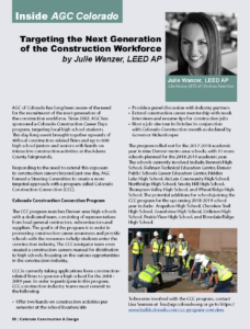 CCD Magazine_Targeting the Next Generation of the Construction Workforce_Spring 2018_Business Rewritten