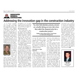 CREJ_Addressing the Innovation Gap in Construction Industry_April 2019_Business Rewritten_Ghostwriter