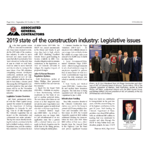2019 State of Construction Industry - Legislative Issues_CREJ_Sept 2019_Business Rewritten