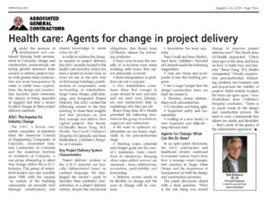 Health Care - Agents for Change in Project Delivery_Business Rewritten