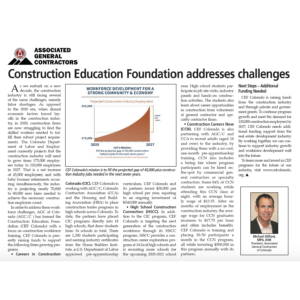 CREJ_Construction Education Foundation Addresses Challenges_Feb 2020_Business Rewritten_Copywriter