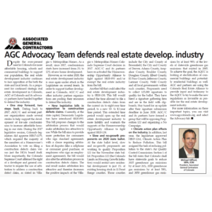 AGC Colorado Advocacy Group Defends Real Estate Development Industry_CREJ_Business Rewritten